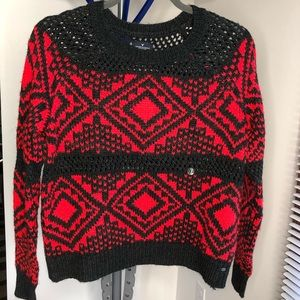 American Eagle red crew neck sweater small NWT